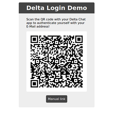 A website showing a QR code to login to the forum.